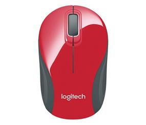 Logitech M187 Wireless Mini Mouse - Red (910-002727)