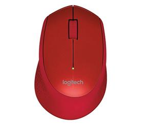 Logitech M320 Wireless Mouse - Optical - Wireless - Radio Frequency - Red- USB - 1000 dpi - Scroll Wheel - 3 Button(s) (910-004354)