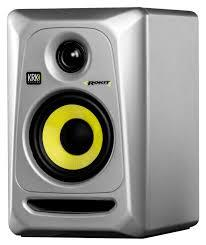 "KRK Rokit 4 G3 30W 4"" Two-Way Active Studio Monitor (Single, Silver) Generation 3"