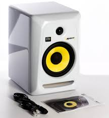 "KRK Rokit 4 G3 30W 4"" Two-Way Active Studio Monitor (Single, White) Generation 3"