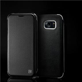 REMAX Pure Series PU Leather  Case For S7 Edge - Black