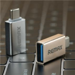 REMAX Type C to USB 3.0 Adapter Converter with OTG - Silver