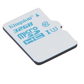 Kingston microSDHC 32GB Class 10 UHS-I Action Card + SD Adapter Read:90MB/s; Write:45MB/s (SDCAC/32GB)