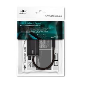 Vantec USB 3.1 Gen 1 Type C, 4-Port Bus-Powered Travel Hub (UGT-MH410U3-C)