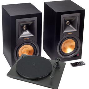 Klipsch The Music Crate - Klipsch R-15PM Speaker + Pro-Ject KLIREFTT Turntable