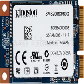 Kingston mS200 60GB mSATA SSD, SATA 6.0Gbps (SMS200S3/60G)