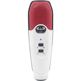 CAD U37 - USB Studio Condenser Recording Microphone (Red/White)
