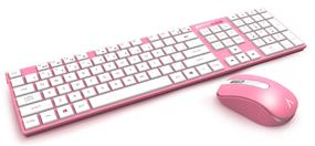 Azio HUE 2 Wireless Keyboard and Mouse Combo- Pink  (KM508-PN)