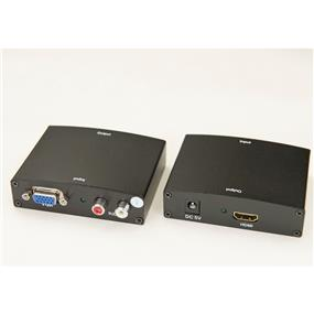 iCAN VGA + Stereo Audio to 1080P HDMI converter for Hi-Res TVs Projectors (ADP VGA-HDMI-1)