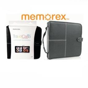 Memorex Travelcase Active CD/DVD/Bluray Faux Leather Wallet Black