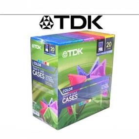 TDK Snap N' Save Cases 27MM PP Poly (Hold 10-Disc) Five Assort Colour x 4 Each Retail