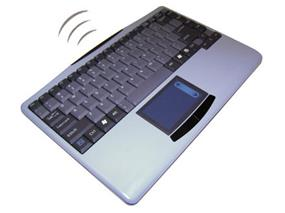 AdessoSlimTouch 4000 - Wireless Touchpad Mini Keyboard (Silver)