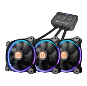 Thermaltake Riing 14 LED RGB 256 Colors High Static Pressure LED Radiator Fan + Controller (3 Fan Pack) (CL-F043-PL14SW-B)