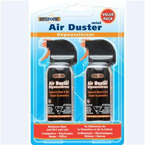 Emzone 47062 Air Duster Mini - Compressed Gas Duster Double packs - 2 x 85 g / 3 oz