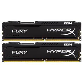 Kingston HyperX Fury Black Series 16GB (2x8GB) DDR4 2400MHz CL15 Dual-Channel DIMMs (HX424C15FB2K2/16)