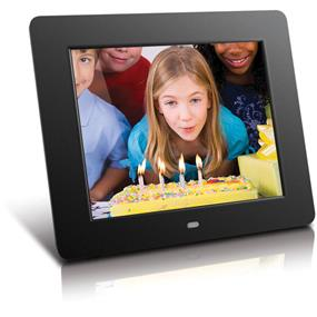 "Aluratek ADMPF108F - 8"" Digital Photo Frame With 512MB Memory"