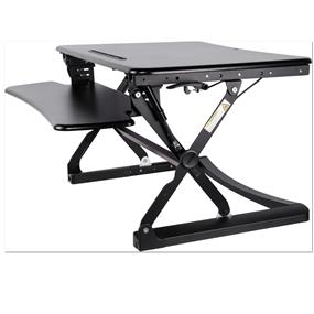 "iCAN 27"" 680x590mm Platform Height Adjustable Sit-Stand Workstation Black(MT101-S)"