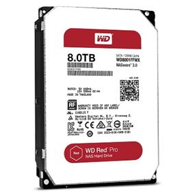 WD Red Pro 8TB NAS Desktop Hard Disk Drive - IntelliPower SATA 6 Gb/s 128 MB Cache 3.5 Inch (WD8001FFWX)