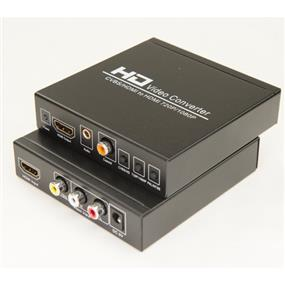 iCAN Premium 3RCA (Yellow/Red/White) A/V CVBS + HDMI to PAL/NTSC 1080P HDMI Upscale converter with Digital Coaxial and Stereo Analog Output. A/C Adapter included. (ADP 3RCAH-HD)