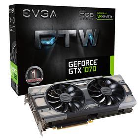 EVGA GeForce GTX 1070 FTW Gaming ACX 3.0 8GB  (08G-P4-6276-KR)