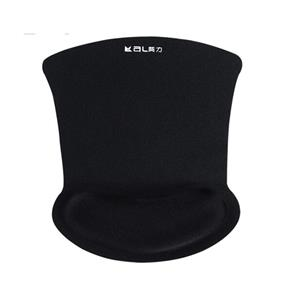 iCan Mouse Pad with Wrist Rest (KLH-3096F) Rubber Bottom + Memory Foam Filled + Fabric (Black)