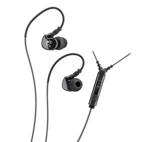 MEElectronics Sport-Fi M6P Memory Wire In-Ear Headphones with In-Line Mic Remote Control (Black)