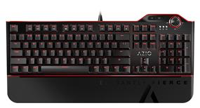 Azio MGK L80 Mechanical Gaming Keyboard with Aluminum Faceplate, Brown K-Switch/ Red Backlight, and full NKRO and USB (MGK1-L80-02)