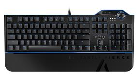 Azio MGK L80 Mechanical Gaming Keyboard with Aluminum Faceplate, Blue K-Switch/ Blue Backlight, and full NKRO and USB (MGK1-L80-03)