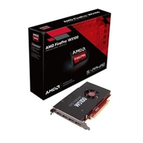 AMD Video Card 100-505974 AMD FirePro W5100 4GB GDDR5 PCI Express QUAD DisplayPort Full Retail (100-505974)