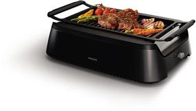 Philips HD6371/94 Avance Smokeless Grill with Die Cast Grill, Small, Black
