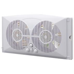 "Ecohouzng Twin Window Fan - 9"" - White"