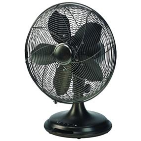 "Ecohouzng Oscillating Desk Fan - 12"" - Black"
