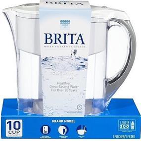 Brita Grand 80-Ounce Water Filtration Pitcher (White)