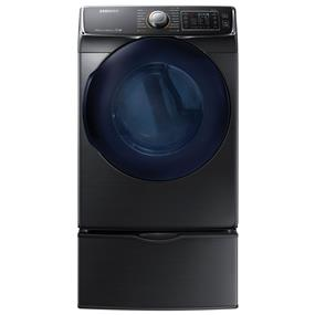 Samsung 7.5 Cu. Ft. Electric Steam Dryer (DV45K6500EV) - Black Stainless