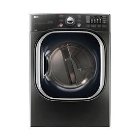 LG 7.4 Cu. Ft. Front Load Electric Steam Dryer (DLEX4370K) - Black Stainless