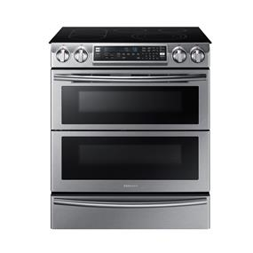 Samsung 5.8 cu.ft. Wi Fi Electric Slide-In Range - Stainless Steel