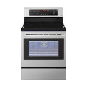 LG - 6.3 Cu. Ft. Freestanding Electric Convection Range - Stainless Steel