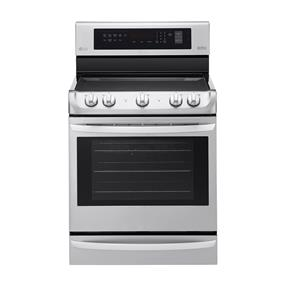 "LG 36"" 6.3 Cu. Ft. Self-Clean True Convection Freestanding Smooth Top Electric Range (LRE4213ST)"
