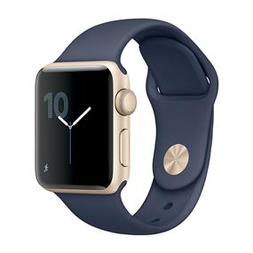 Apple Watch Series 2 38mm Smartwatch (Gold Aluminum Case, Midnight Blue Sport Band)