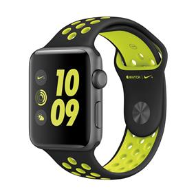 Apple Watch Nike+ 42mm Space Gray Aluminum Case Black/Volt Nike Sport Band