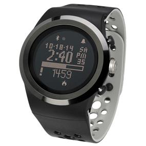 LifeTrak Brite R450 Automatic Life Tracker with Built-in ECG Heart Rate Monitor - Midnight Black / Titanium (LTK7R45005)