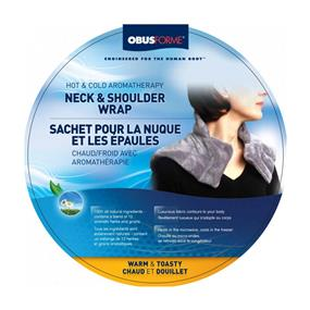 ObusForme Hot and Cold Aromatherapy Neck and Shoulder Wrap (HC-NSW-GY)