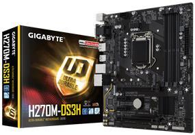 GIGABYTE GA-H270M-DS3H Socket 1151 Intel H270 Chipset