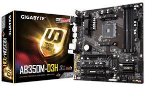 GIGABYTE GA-AB350M-D3H Socket AM4 AMD B350 Chipset