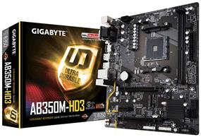 GIGABYTE GA-AB350M-HD3 Socket AM4 AMD B350 Chipset