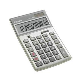 "Canon HS-20TG Semi Desktop Calculator - 12 Digit(s) - LCD - Battery/Solar Powered - 0.4"" x 2.5"" - Metallic Calculator (1074B007)"