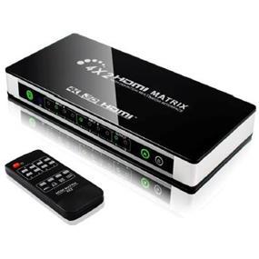 YUNZUO HDMI 4K*2K  Matrix 4x2 (4 inputs 2 outputs) Switcher (HY-4402-V0-C)