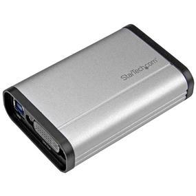 StarTech USB 3.0 Capture Device for High-Performance DVI Video - 1080p 60fps - Aluminum (USB32DVCAPRO)