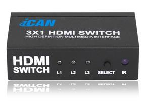 YUNZUO HDMI V1.3 3x1 Switch (HY-3301-V0-E)
