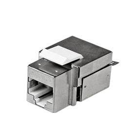StarTech Shielded Cat 6a Keystone Jack - RJ45 Ethernet Cat6a Wall Jack White - 110 Type(C6AKEY110WH)